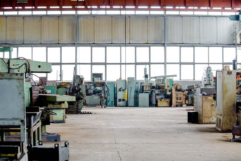 Betriebsauflösung einer Fabrik